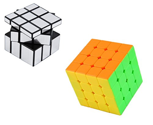 Vortex Toys Magic Rubik Silver Mirror & 3x3 Combo Puzzle Cube Brainstorming Game Toy (2 Pieces)