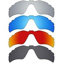MRY 4 pares polarizadas lentes de repuesto para Oakley Radar Path Vented  sunglasses-stealth negro 98e79454af