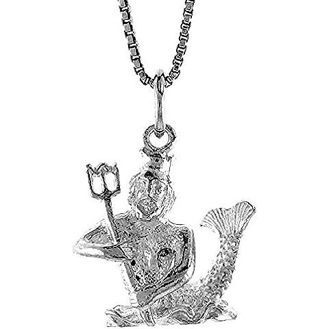 Revoni astrologia-Ciondolo in argento sterling 925/1000, con segno dello zodiaco Acquario