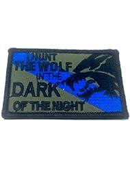 I HUNT el lobo en la oscuridad de la noche bordado Airsoft Velcro Patch