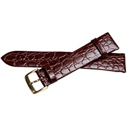 Bernex Sobek L Unisex Brown Leather Buckle Pin of 2.0cm GB42353