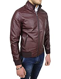 online store 6b053 9edc7 giacca ecopelle uomo - Mat Sartoriale ... - Amazon.it