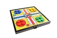 Magnetisches Brettspiel (Super Mini Reise-Edition): Ludo - magnetische Spielsteine, Spielbrett zusammenklappbar, 12,8cm x 12,8cm x 1cm, Mod. SC3624 (DE)