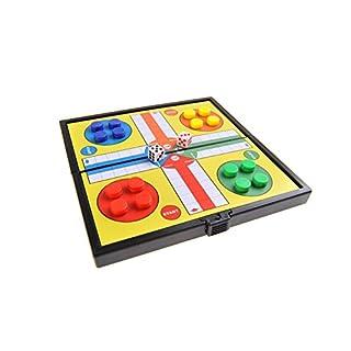 Quantum Abacus Magnetisches Brettspiel (Super Mini Reise-Edition): Ludo - magnetische Spielsteine, Spielbrett zusammenklappbar, 12,8cm x 12,8cm x 1cm, Mod. SC3624 (DE)
