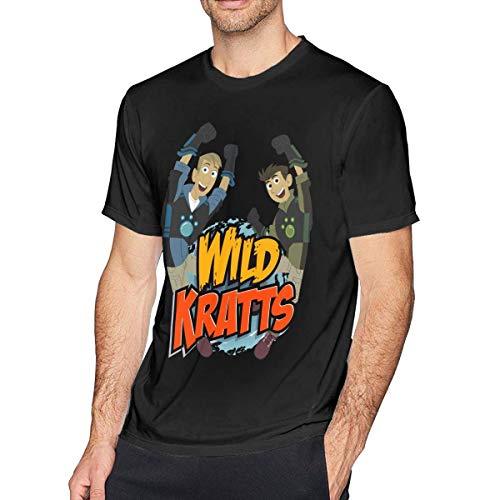 liuyang727000 Wild Kratts Men's Comfort Tee Black (Kratts Shirts Wild)
