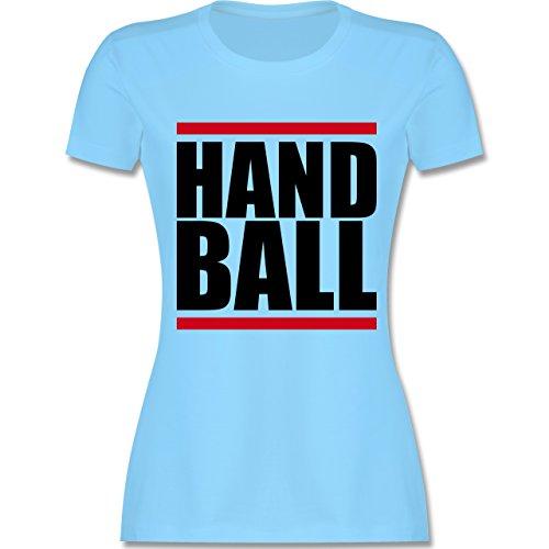 Handball - Handball Balken - tailliertes Premium T-Shirt mit Rundhalsausschnitt für Damen Hellblau