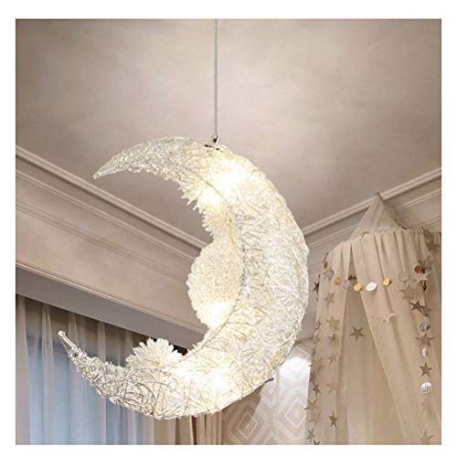 euchtung Kreative Star Moon Persönlichkeit Kronleuchter Restaurant Schlafzimmer Warme Beleuchtung Mit Farbenkasten ()