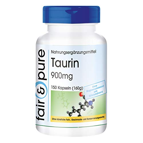 41Rm8Nn5DJL. SS500  - Taurine 900mg, Vegan, 150 Capsules, Without Magnesium Stearate and Silicon Dioxide