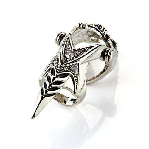 SODIAL(R) anillo de dedo de Armadura de metal de craneo gotico