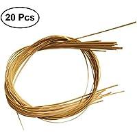 Healifty Cesta Plana Ovalada Reed Bamboo Strips para Tejer Silla 2M 20 Piezas