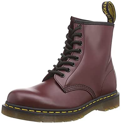 Dr. Martens 1460 Smooth, Stivali Unisex - Adulto, Rosso (Cherry Red), 37 EU