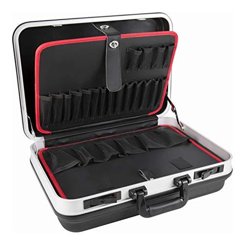 STIER Werkzeugkoffer Basic leer I ABS-Kunststoff Kofferschale stabil & schlagfest I Tragkraft 15 kg mit 30 großen