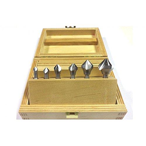 Bit Fraise conique 90 ° Kit 6,3/8,3/10,4/12,4/16,5/20,5 mm DIN 335 C