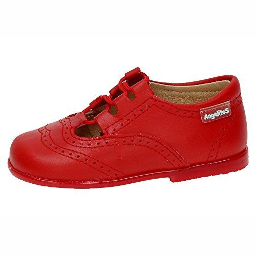 ANGELITOS 504 Mocasines INGLESITOS NIÑO Zapatos MOCASÍN Rojo 25