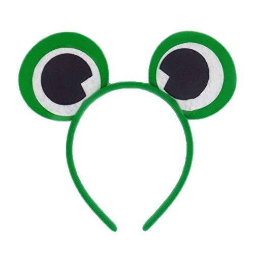 TOYANDONA 6 Stück Frosch Haarreif Augäpfel Stirnband Haarbänder für Kinder Halloween Party Kostüm (grün)