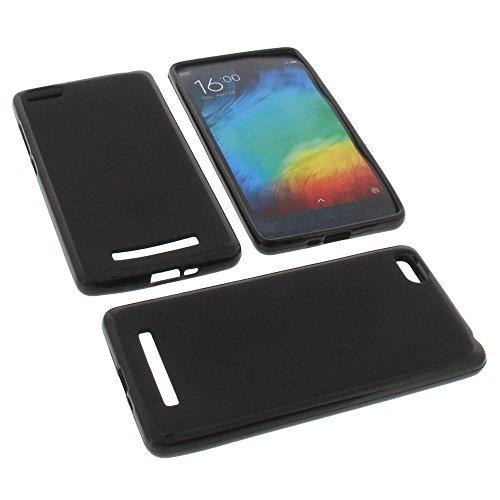 foto-kontor Tasche für Xiaomi Mi 4c Gummi TPU Schutz Hülle Handytasche schwarz