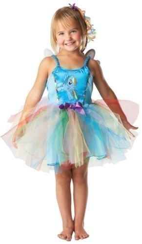 lau Pink Dämmerung funkelnd Pinkie Pie Rainbow Dash My little Pony Prinzessin Tutu büchertag Kostüm Kleid Outfit - Rainbow Dash (blau), 3-4 Years (Rainbow Dash Tutu)