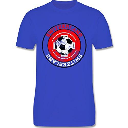 EM 2016 - Frankreich - Switzerland Kreis & Fußball Vintage - Herren Premium T-Shirt Royalblau