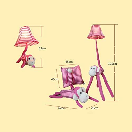 Kinder Lampe für Mädchen Colt Lampe niedliche Stehlampe 48-Zoll dekorative Licht mit Stoff Schatten für Kinderzimmer Schlafzimmer Wohnzimmer Stehleuchte (Größe: 4 Sätze) ( Farbe : 4 Sets , Größe : - )