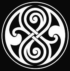Whovian Seal of Rassilon Sticker Decal Notebook Car Laptop 5.5' (White) KCD152