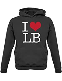 Dressdown I Heart LB - Childrens/Kids Hoodie - 3 Colours - Ages 1-13 Years