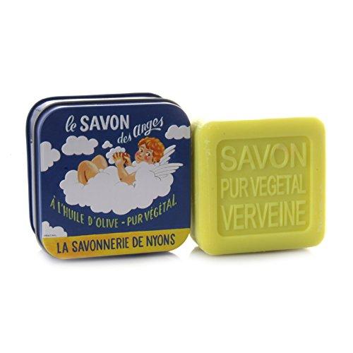 La Savonnerie de Nyons Seife Metall Box angel-100Gramm, Multi/Farbe, Eine Größe (Angeln Seife)