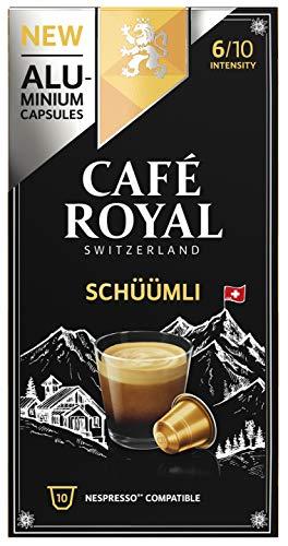 Café Royal Lungo 50 Schüümli Nespresso kompatible Kapseln (aus Aluminium, Intensität 6/10) (5 x 10 Kaffeekapseln)