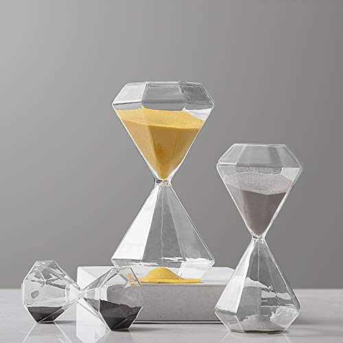 SHENGSHIHUIZHONG Sanduhr, einfache Moderne Timer-Sanduhr, Geburtstagsgeschenkweinschrank-Dekorationsverzierungen (Color : Silver- 30minute)