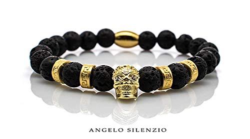 Perlenarmband Lava Perlen King Royal 24k Vergoldet Bracelet -