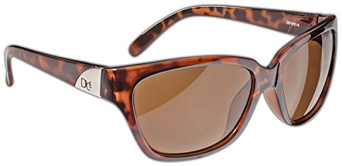 Dice Damen Sonnenbrille, Dark Brown, One Size, D01611-4
