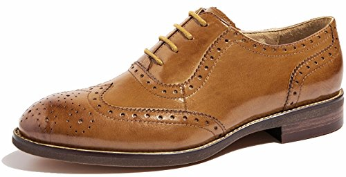 Flat Vintage Brogue Oxfords Schuhe Comfy Office Schuhe Braun-137 ()