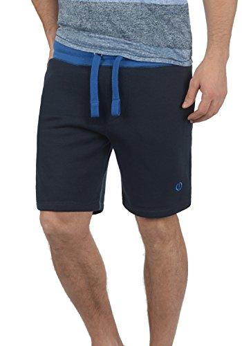 !Solid Benni Herren Sweatshorts Kurze Hose Jogginghose Mit Fleece-Innenseite Und Kordel Regular Fit, Größe:L, Farbe:Insignia Blue (1991) - Nieten-logo-t-shirt