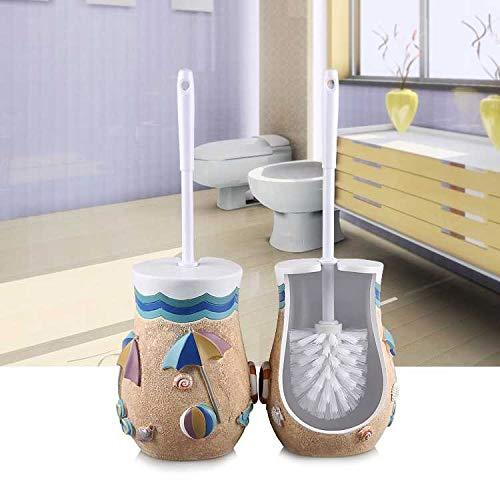 Walizh Euro Style Toilettenbürste Ceiling-Bürsten-Satz Kreatives Haupt Toilette Toilettenbürste Stiel Toilettenbürste Toilettenbürstenhalter Strand Muschel ShellY13-DJ3642104477