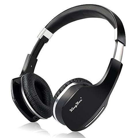 KingYou On-Ear Bluetooth Kopfhörer Mit Mikrofon und Wireless Headset Studio Kopfhörer Für iPhone und Android Geräten (HD-007