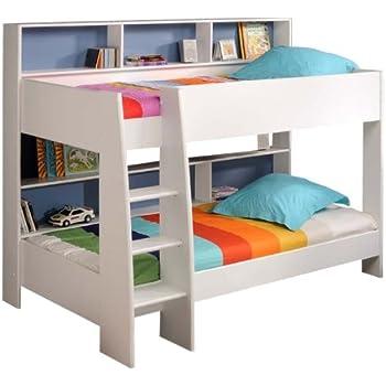 prisot 90x200 kinder etagenbett doppelstockbett wei. Black Bedroom Furniture Sets. Home Design Ideas