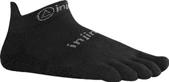 Injinji Run 2.0 Light Weight No Show CoolMax Toe Socks-Black-S