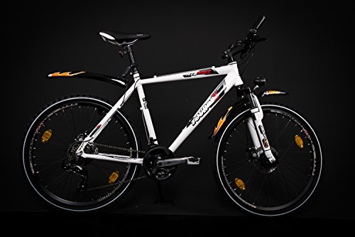 "MIFA 26\"" Zoll MTB Cross Fahrrad Bike SHIMANO 21 Gang Nabendynamo Scheibenbremsen"