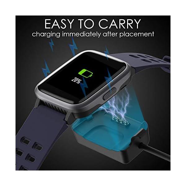LATEC Pulsera Actividad Reloj Inteligente Impermeable IP68 Smartwatch Pantalla Táctil Completa con Pulsómetro Cronómetro Pulsera Deporte para Hombres Mujeres Niños con iOS y Android 7