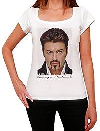 George Michael Face Melrose Tshirt, T-Shirt Femme, manche courte, cadeau