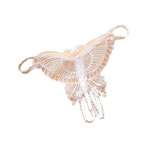 Sunwords Frauen Sexy Open Crotch Butterfly Hollow Strap Thong G-String Unterwäsche Schlüpfer (Butterfly Sexy Thong)