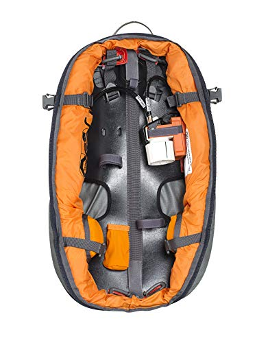 ABS Unisex - Adulto Zaino da valanga Base Unit, Coppia, Twinbag per Una Maggiore Sicurezza, Utilizzabile con S.Light + P.Ride Compact Zipons e Carbon Inflator, campionamento Gratuito, Black One Size