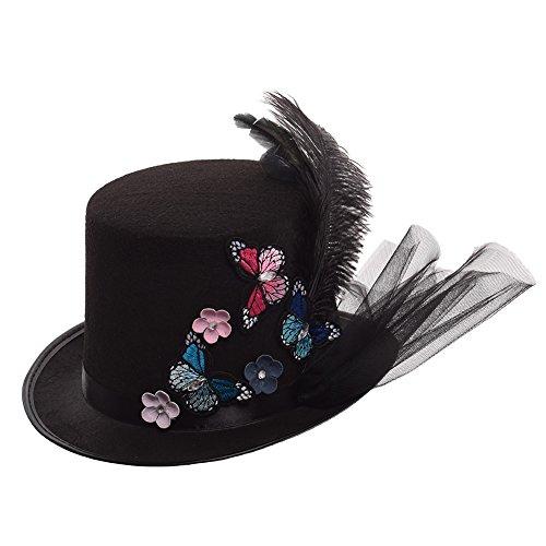Graceart donna steampunk cappello halloween accessori (58 circonferenza)