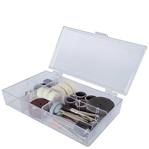 Scheppach 3901402701Sierra de marquetería/Herramientas 64piezas, accesorios para la Deco de Flex, en caja de plástico