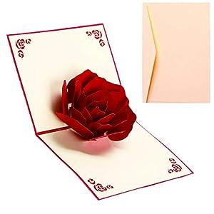 Tarjeta de Felicitación Rosa Emergente
