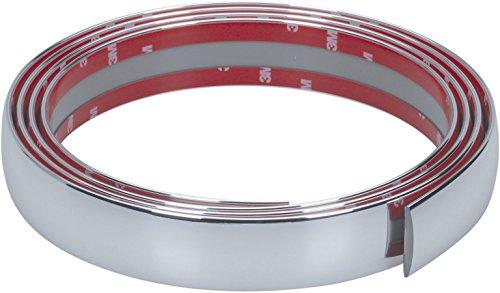 Preisvergleich Produktbild hr-imotion selbstklebende Chrom-Zierleiste - 245cm x 35mm [3M Material | Zuschneidbar | Witterungsbeständig | Hochflexibel] - 12010701