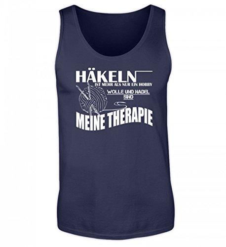 Shirtee Hochwertiges Herren Tanktop - Häkeln ist Meine Therapie