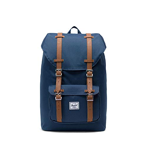 Herschel Little America Mid-Volume Rucksack, 17 l, Navy/Tan
