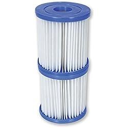 Bestway - Lot de 2 cartouches de filtration type I pour piscine hors sol