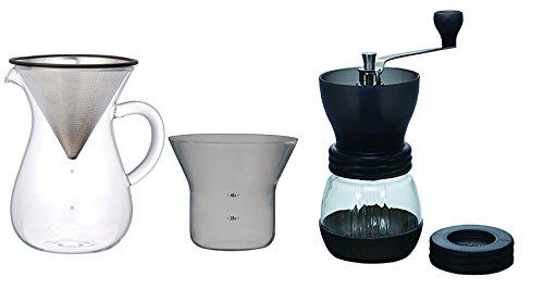 1.1L KINTO Carafe à café avec filtre et Hario Moulin à café skerton en céramique vendus Ensemble