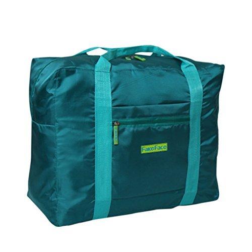 Reisetasche, Kleidertasche, Wasserdichte Damen & Herren Aufbewahrungstasche Nylon Tasche für Reise Große Kapazität Faltbare Bag Storage Wandern Sport Urlaub Outdoor Grün